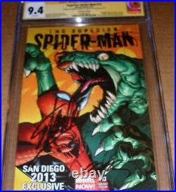 Superior Spider-Man #13 SDCC Variant CGC SS SIGNED Stan Lee Humberto Ramos 2013