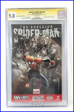 Superior Spider-Man #8 Variant CGC 9.8 SS Signed (2X) Stan Lee Humberto Ramos
