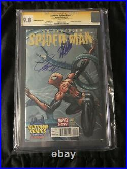 Superior Spider-man #1 CGC 9.8 Midtown Variant SIGNED by Stan Lee & J. Campbell