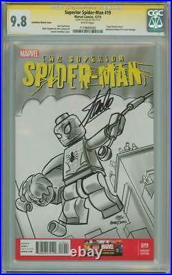 Superior Spider-man #19 Lego Variant Cgc 9.8 Signature Series Signed Stan Lee