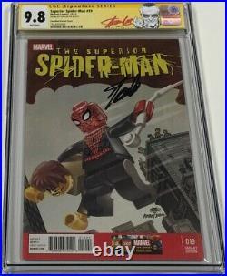 Superior Spiderman #19 Amazing Fantasy Lego Variant Signed Stan Lee CGC 9.8 SS