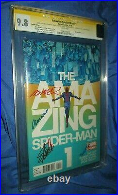 THE AMAZING SPIDERMAN #1 CGC 9.8 SS Signed by Stan Lee Marcos Martin Variant