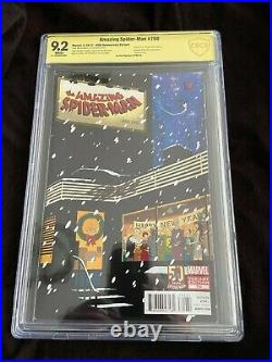 The Amazing Spider-man #700 50th Anniversary Variant signed by Stan Lee 9.2