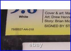ULTIMATE SPIDER-MAN #104 Mark Bagley 150 White Variant 9.8 SS SIGNED STAN LEE
