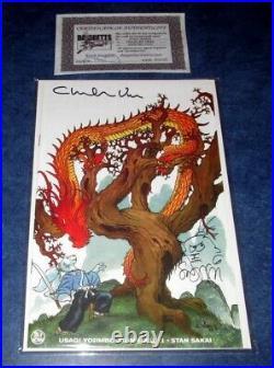 USAGI YOJIMBO #1 signed with sketch COLOR variant HEROES CON STAN SAKAI VESS IDW