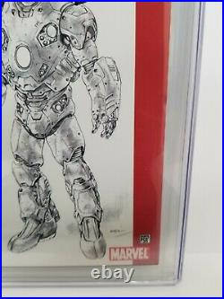 Ultimate Ironman #1 B CGC 9.8 NM/MT SS Signed by STAN LEE! B/W sketch variant