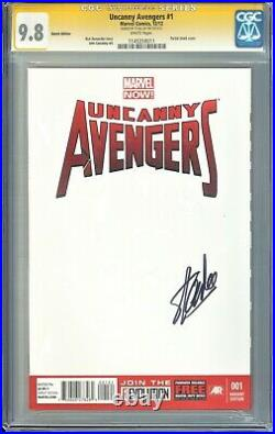 Uncanny Avengers #1 Blank Sketch Cover Variant Signed By Stan Lee Cgc Ss 9.8
