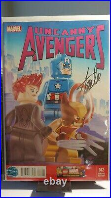 Uncanny Avengers #12 Variant Edition Lego signed Stan Lee withcoa