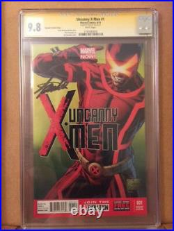Uncanny X Men 1 CGC 9.8 SS Joe Quesada Sketch Color Variant Signed By Stan Lee