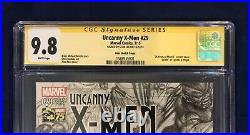 Uncanny X-Men 29 Alex Ross 75 Years Sketch Variant 1300 CGC 9.8 Signed-Stan Lee