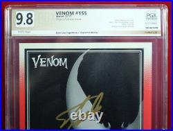 VENOM #155 TRADING CARD VARIANT PGX 9.8 NM/MT Near Mint signed STAN LEE! +CGC