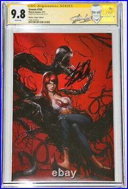 Virgin Venom #150 Variant Signed By Stan Lee Cgc Ss 9.8 Mary Jane Mattina Covr