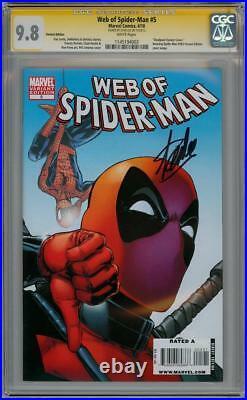 Web Of Spider-man #5 Deadpool Variant Cgc 9.8 Signature Series Stan Lee Marvel