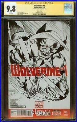 Wolverine #1 CGC 9.8, Alan Davis Sketch Variant Signed Stan Lee 2013