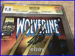 Wolverine 145 Gold Foil Variant CGC 9.8 SS Stan Lee Sign Adamantium Returns