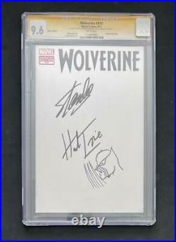 Wolverine #310 Variant Cgc 9.6 Ss Signed Stan Lee + Trimpe Sketch X-men 181 Hulk