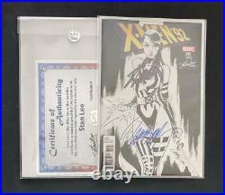 X-MEN 92 #1 CAMPBELL VARIANT SIGNED STAN LEE WithCOA UNCANNY PSYLOCKE WOLVERINE
