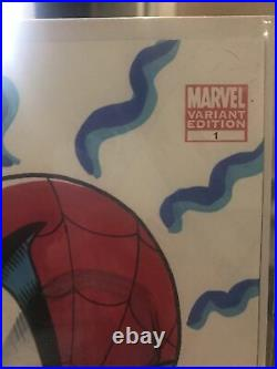 X-Men #1 Variant Edition Spiderman Sketch Signed By Stan Lee & Artist Ken Haeser