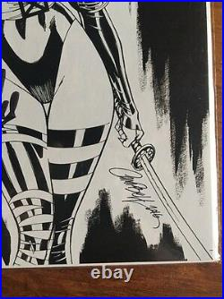 X-Men 92 #1 J Scott Campbell Psylocke sketch variant signed by Stan lee