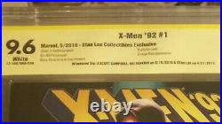 X-Men 92 #1 Psylocke color variant 9.6 signed by Stan Lee J Scott Campbell Nei