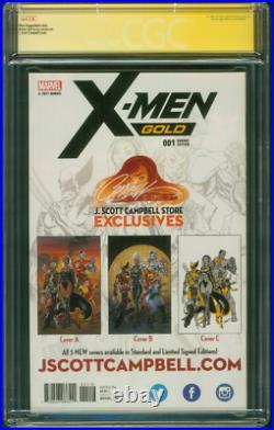 X Men Gold 1 CGC 2XSS 9.8 Campbell Stan Lee Gold Sign Variant Phoenix Movie 6/17