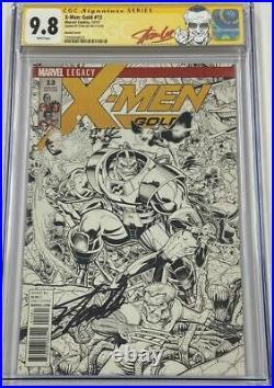 X-Men Gold #13 Art Adams 150 B&W Sketch Variant Signed by Stan Lee CGC 9.8 SS