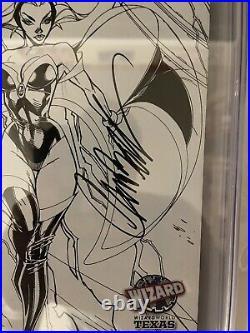 X-Men Worlds Apart 1 CGC 9.8 SS Signed Stan Lee J Scott Campbell Variant Sketch