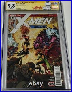X-men Blue #13 Art Adams Cover Variant Signed by Stan Lee CGC 9.8 SS Red Label