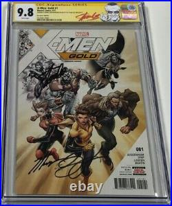 X-men Gold #1 Premiere Variant Signed Stan Lee & Guggenheim CGC 9.8 SS Red Label